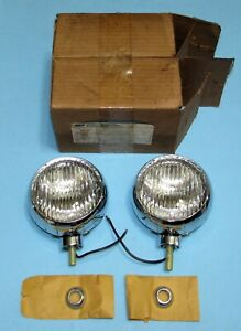 Pair Nos 65 68 Ford Mustang Galaxie Bronco Fog Lights C5rz 15200 A
