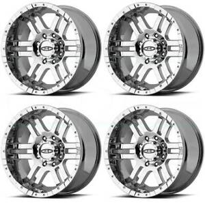 16x8 Moto Metal Mo951 6x5 5 6x139 7 0 Chrome Wheels Rims Set 4