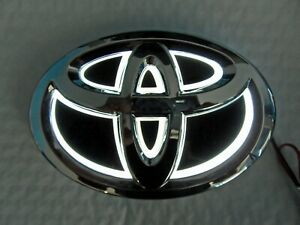 New 5d Chrome White Led Oval Badge Emblem Lamp For Toyota Large Free Ship