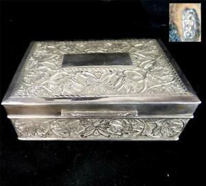 N975 Antique Or Vintage Middle Eastern Islamic Silver Cigarette Box Case