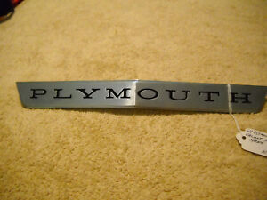 Nos Mopar 1964 Plymouth Valiant Hood Nameplate Emblem Plymouth Nice