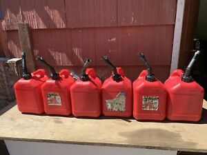 Blitz 2 Gallon 8oz Gas Fuel Can Bundle Of 6