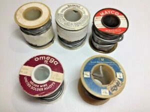 Vintage Solder Lot Mayco Hewitt Omega 4 4 Pounds Total
