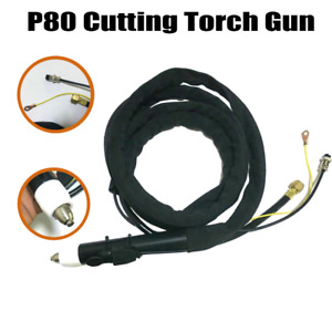 P80 P 80 Plasma Cutting Straight Pencil Head Body Torch Set Complete 10feet