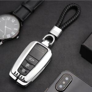 Fit For 2020 Toyota Corolla Car Smart Key Silver Aluminum Case Cover Holder