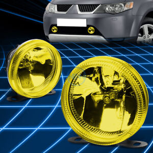 Amber Yellow Lens Universal Round Bumper Driving Fog Light Lamp Ajustable Mount
