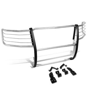 1 5 Bar Stainless Tubular Front Bumper Brush Guard For 07 13 Chevy Silverado