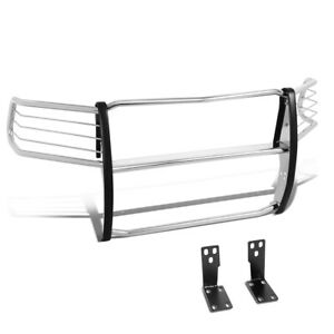 1 5 Stainless Steel Tubular Front Bumper Grille Brush Guard For 10 18 Ram Truck