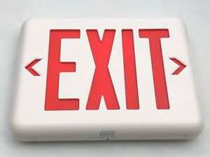 Dual Lite Led Emergency Exit Sign Eveurwe Red Letters