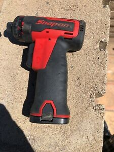Snap On Cts725 And Ctb6172 1 4 Micro Lithium Cordless Screwdriver Used