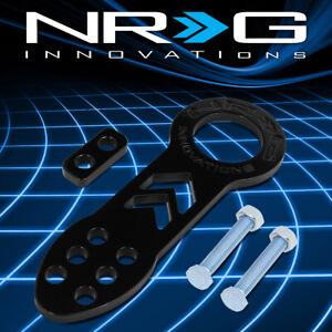 Nrg Tow 100bk Aluminum Universal Fit Vehicle Front Bumper Towing Tow Hook Kit