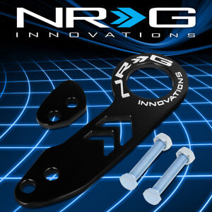 Nrg Tow 110bk Aluminum Universal Fit Vehicle Rear Bumper Towing Tow Hook Kit