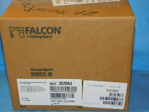 Falcon 352063 Plastic 5ml Polypropylene Round bottom Tube 12 X 75mm Case 500