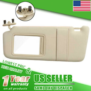 Sun Visor Left Driver Tan Beige For 2007 2011 Toyota Camry W o Vanity Light Us