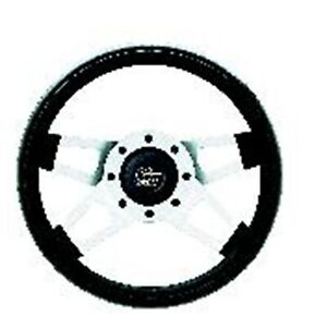 Grant 415 Challenger Steering Wheel With Satin Silver Spokes 13 5x3