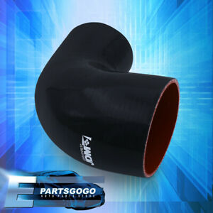 3 5 To 4 90 Degree Reinforce Black Red Coupler Hose Silicone Piping Intake