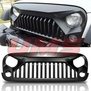 For 07 18 Jeep Wrangler Jk Gladiator Upgrade Angry Bird Matte Black Grill Grille