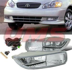 For 03 04 Toyota Corolla Oe Clear Bumper Driving Lamps Fog Lights switch Wiring
