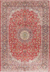 Vintage Area Rug Traditional Floral Hand Made Oriental Large Wool 10x14