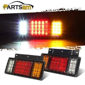 2 Truck Trailer Rv 40 Led Turn Reverse Brake Running Lights W iron Net