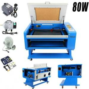 80w Co2 Laser Engraving Cutting Machine Engraver Cutter W Regular Rotary Axis