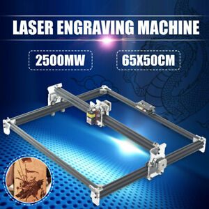 2500mw 65x50cm Laser Engraving Machine 2 axis Cutting Printer Engraver Desktop