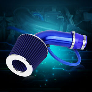 76mm 3 In Universal Car Cold Air Intake Filter Aluminum Induction Hose Pipe Kit