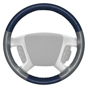 Wheelskins Europerf Perforated Blue Steering Wheel Cover W Gray Sides Color