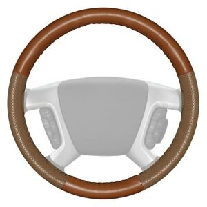 Wheelskins Europerf Perforated Tan Steering Wheel Cover W Oak Sides Color
