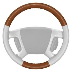 Wheelskins Europerf Perforated Tan Steering Wheel Cover W White Sides Color