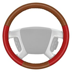 Wheelskins Europerf Perforated Tan Steering Wheel Cover W Red Sides Color
