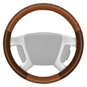 Wheelskins Europerf Perforated Tan Steering Wheel Cover W Brown Sides Color