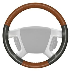 Wheelskins Europerf Perforated Tan Steering Wheel Cover W Charcoal Sides Color