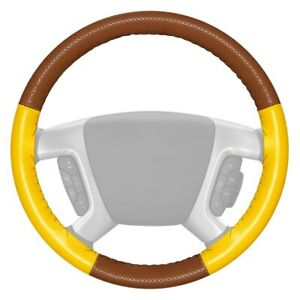 Wheelskins Europerf Perforated Tan Steering Wheel Cover W Yellow Sides Color