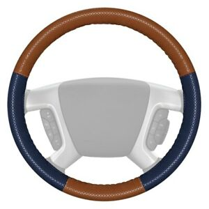 Wheelskins Europerf Perforated Tan Steering Wheel Cover W Blue Sides Color