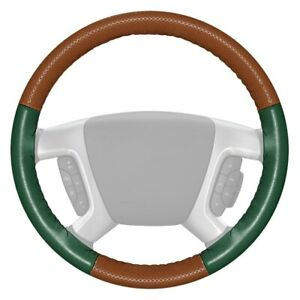 Wheelskins Europerf Perforated Tan Steering Wheel Cover W Green Sides Color