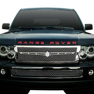 For Land Rover Range Rover Sport 06 09 Grille Kit 4 Pc Luxury Series Chrome Dual