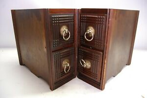 Antique Sewing Machine Drawers Set Of Four Diy Cabinet New Home S M Co