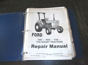 Ford 1310 1510 1710 1710 Offset Tractors Service Repair Manual
