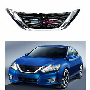 Fit For Nissan Altima 2016 2018 Auto Front Upper Grill Grille Black With Chrome