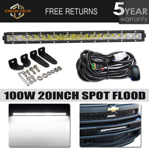 Single Row 20inch 100w Led Light Bar For Chevy Ford Car Offroad Driving Boat 21