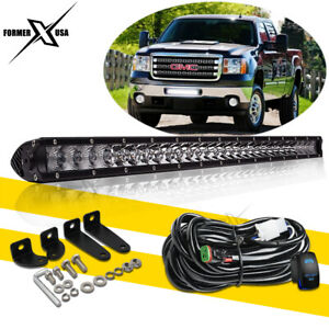 20 inch Single Row Led Light Bar Super Slim Combo Spot Offroad Driving Suv 100w