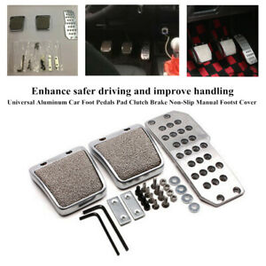 Aluminum Vehicle Foot Pedals Pad Clutch Brake Non Slip Manual Footst Cover Parts