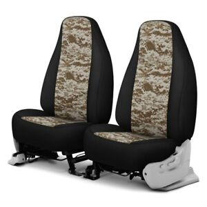 For Dodge Ram 1500 Van 95 96 Camo 1st Row Digital Tan W Black Custom Seat Covers