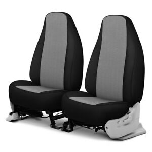 For Dodge Ram 1500 Van 97 03 Grandtex 1st Row Pewter W Black Custom Seat Covers