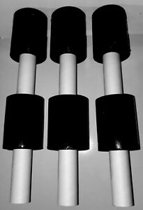 5 In X 1000ft 80 Gauge 6 Rolls Black Stretch Shrink Film Hand Wrap With Handle