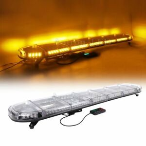 60 Led Amber Warning Emergency Tow plow Truck Wrecker Roof Work Strobe Lightbar