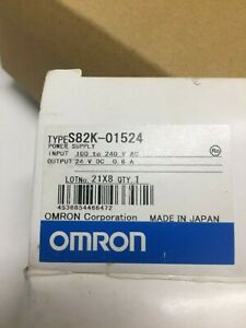 Omron Power Supply S82k 01524 Input 100 240 V 45a Output 24 Volts Dc 6 A