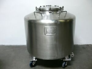 Dairy Craft 720 Liter 190 Gallon Stainless Steel Tank Pressure Vessel 25 Psi