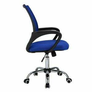 Modern Mesh Mid back Office Chair Computer Desk Task Ergonomic Swivel Blue